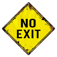 DS-0005 NO EXIT Diamond Sign Rustic Chic Sign Bar Shop Home Decor Gift