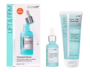 Skinlab Lift&Firm Serum Full Size 1fl oz+1 Lift&Firm Daily Gel Cleanser 5fl oz