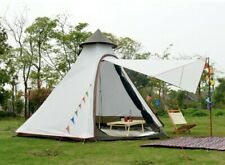 White camping Tipi Tent Teepee bell tent Glamping Waterproof PE tent