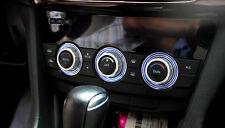 Blue!For Mazda6 M6 2013-2015 AC Aluminium Heater Surrounds Control Trim Ring Set