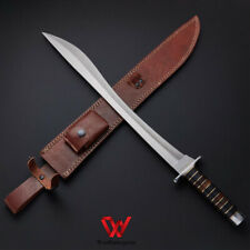 SWORD Custom Handmade D2 steel Falcata Kopic SHORT Sword With Leather Sheath