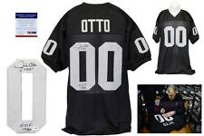 Jim Otto SIGNED Jersey - PSA/DNA - Oakland Raiders Autographed - Black