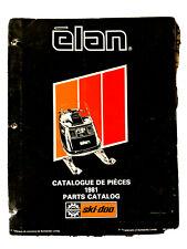 1981 Ski-Doo Elan Snowmobile Parts Catalog