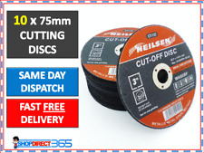 """10X NEW METAL CUTTING / SLITTING DISCS 75MM (3""""/INCH) FOR ANGLE GRINDER CT1122"""