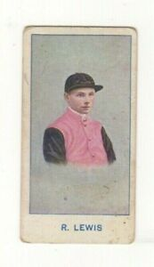 Sniders and Abrahams Jockeys and Horse Racing 1917. R. Lewis