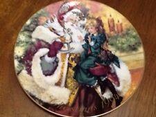 "1994 ""The Wonder Of Christmas"" Avon Plate Victorian Santa Artist Don Sheffler"
