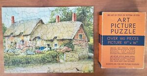 Vintage TUCO Jig Saw Puzzle ' Ann Hathaway's Cottage '  non-interlock complete