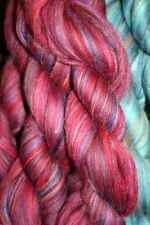 Merino Wool Top Roving Cranberry 1 oz