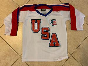 Vintage 1984 USA Hockey Team Jersey - Chock Full O' Nuts Promo - Sz Medium RARE