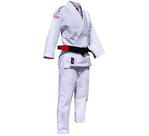 Fuji Kids Childrens Blossom Brazilian Jiu Jitsu Gi Jiu-Jitsu BJJ - White / Pink