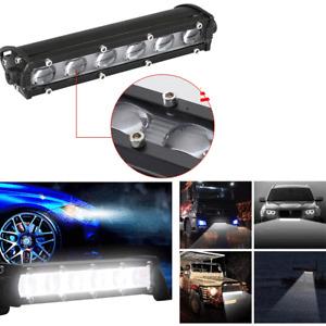 """8"""" 6D Spot Beam Slim LED Work Light Bar Single Row Waterproof Car SUV Truck Lamp"""