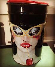 Bidone sgabello latta contenitore COCA COLA Coca Club anni 70-80 Insegna Design