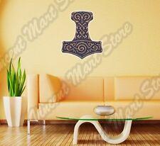 """Mjolnir Thor Hammer Amulet Celtic Wall Sticker Room Interior Decor 20""""X25"""""""