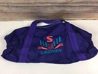 Vintage 90s Club Salomon Ski Bag Retro Purple Pink Teal Skiing