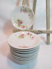 Old Abbey Limoges France Eleven (11) Antique Pink Floral Butter Pats