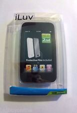 iLUV Black Soft Silicone Back Case & Film For iPod touch 2nd or 3rd Gen
