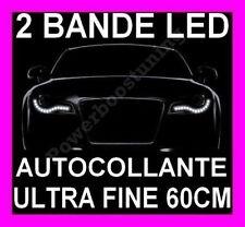 BANDE LED SMD SOUPLE BLANCHE PHARE FEUX DE JOUR DIURNE BLANC XENON INTERIEUR 12V