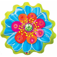 "FLOWER BALLOON 31"" BLUE & ORANGE MOTHER'S DAY BLOSSOM QUALATEX FOIL BALLOON"
