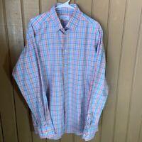 Eton Contemporary Pastel Plaid Dress Shirt Multicolor 17 43 XL