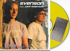 SVENSON ft JOHN ROBINSON - Lover (I want you) CD SINGLE 5TR Trance 2008 RARE!
