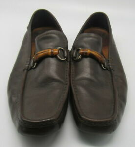 Gucci Men's Brown Leather Loafers sz 12