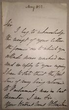 William Christmas - MP for Waterford City - 1833 letter: being returned to Parlt