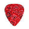 12 Pack RED BANDANA Pick Design Girls Rock Medium Guitar Picks