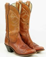 Wrangler Women's Distressed Brown Cowboy Western Boots Vintage US Made Size 7 N