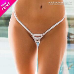 DISCONTINUED Wicked Weasel Sexy 418 Matt Lycra White Micro Bikini Bottom