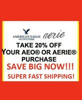American Eagle AE Coupon 20% Off  ReciveTODAY + 25% to 60% OFF EVERYTHIN!