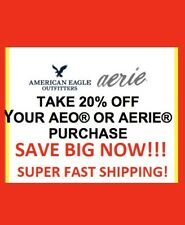 AMERICAN EAGLE AERIE 20% OFF COUPON + WORKS WITH 50% OFF ENTIRE SITE EXP 1/11/20