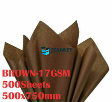 Brown Tissue Paper Acid Free 17gsm 500x750mm 500/1000-3000Sheets