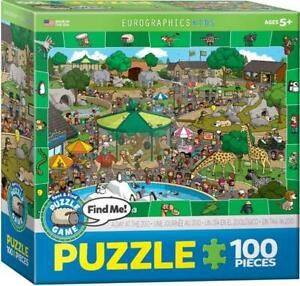 ErographicsKids Jigsaw Puzzle;  A Day at the Zoo; 100 pieces; 6100-0542