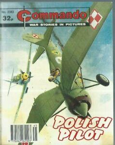 POLISH PILOT,COMMANDO WAR STORIES IN PICTURES,NO.2383,WAR COMIC,1990
