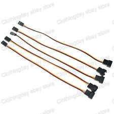 5pcs 20cm 0.66ft Molex 3Pin Male to 3pin Female Fan Power Extension Cable Wire