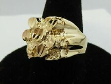Style Nugget Bling Bling Ring Style 2 Size 6 Mens14Kt Gold Ep Squared Off