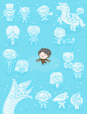 TIM BURTON Movie Characters Giclee Poster 100% Soft like Mondo SIGNED #9/50