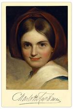 CHARLOTTE CUSHMAN Actress Legend Autograph Photograph Cabinet Card Vintage RP