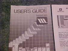 MAYTAG ORIGINAL MODEL DE510 AUTOMATIC DRYER INSTRUCTION MANUAL BOOKLET CA. 1990