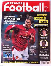 France Football du 3/3/1998; Le journal de la coupe du monde/ Manchester/ Auxerr