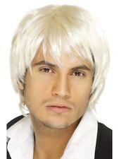 Boy Band Parrucca Corta Bionda adulti Pop Star Celebrità Costume Accessorio