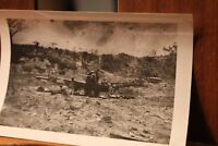 WWII ca.1944 Photo 3.25x4.5 Crashed Japanese Mitsubishi Plane