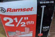 "Ramset Fasteners 1516 63mm 2 1/2"" Drive Pins Nails 1 Box 100 Count Esr 1799"