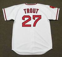 MIKE TROUT California Angels 1970's Majestic Cooperstown Home Baseball Jersey
