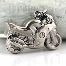 MOTORBIKE KEYRING SILVER - MOTORCYCLE KEYRING -  TOP QUALITY KEYRING