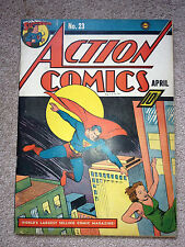 RARE ACTION COMICS 23 - 1940 - HIGH GRADE - 1st ALEXEI (LEX) LUTHOR - KEY L@@K
