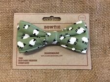 Sheep Print Dog Bow Tie