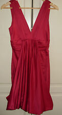 Traffic People, gorgeous, Red, satin, party dress. Size S. VG. XMAS