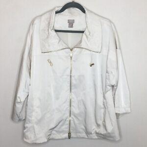 Chico's Travelers Funnel Neck Jacket Size 3 XL Ivory