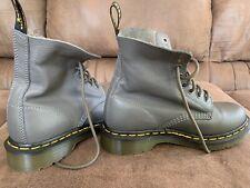DOC MARTENS Pascal Virginia Boots - 8 Eye - Gray - Women's 6 - NEW!
